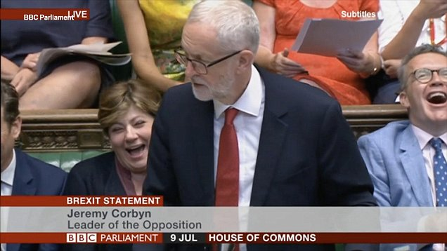 Джереми Корбин по време на изказването си в парламента в Лондон. Снимка: ВВС