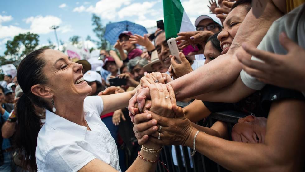 Кандидатката на Morena Клаудия Шейнбаум бе избрана за кметица на столицата Мексико. Снимка: El Pais