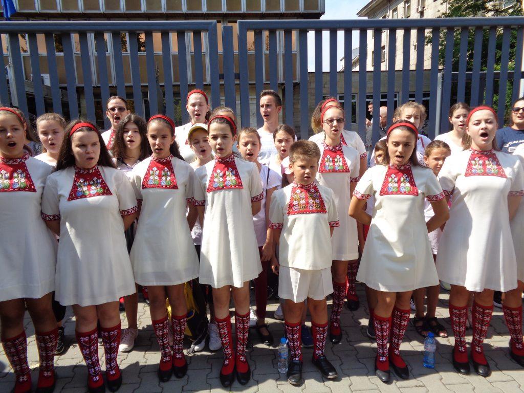 Децата изпълниха и националния химн. Снимка: Къдринка Къдринова