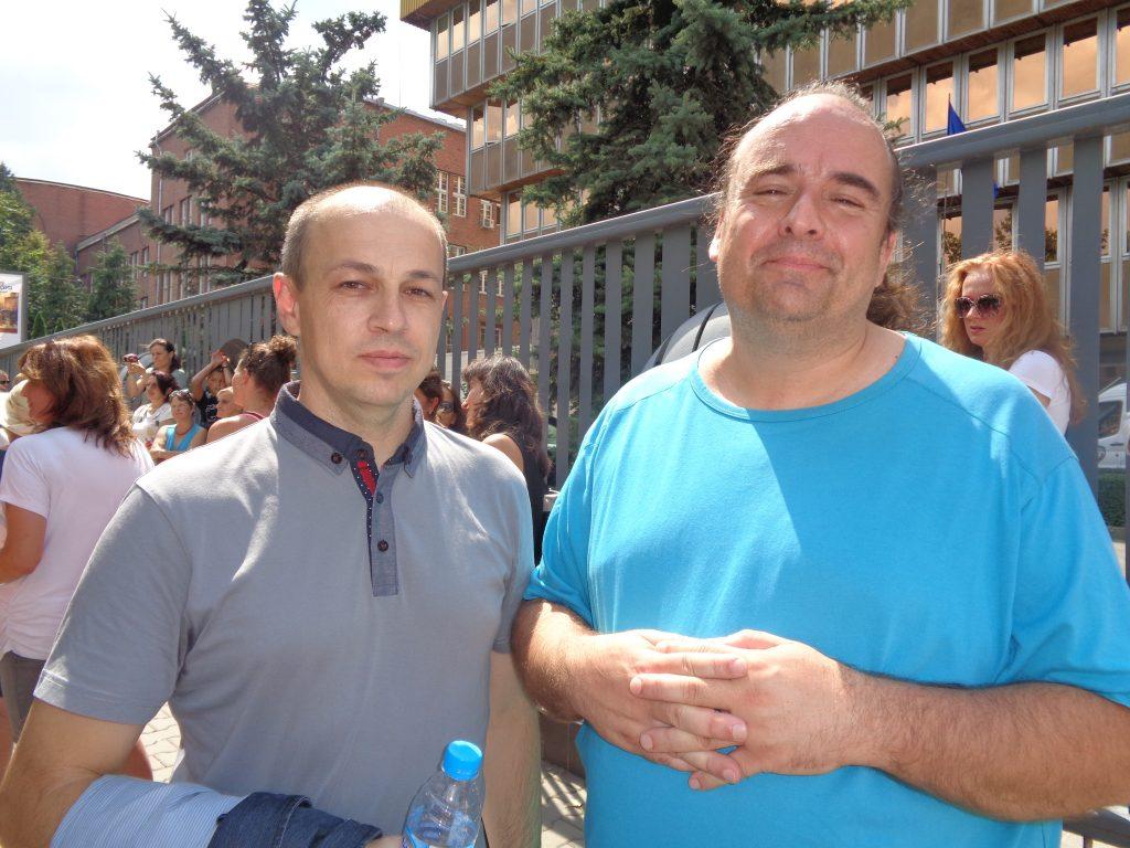 Никола Мечкаров (вляво) и Лъчезар Косев. Снимка: Къдринка Къдринова