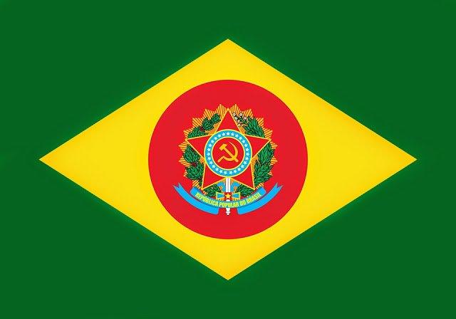 """А такова може да е знамето на """"Автономната бразилска социалистическа република"""". Снимка: Туитър"""