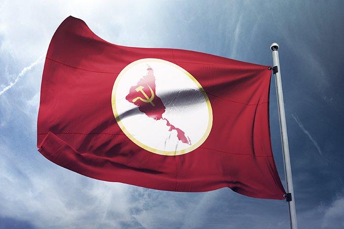 Ей такъв флаг се предлага за бъдещия URSAL. Снимка: Туитър