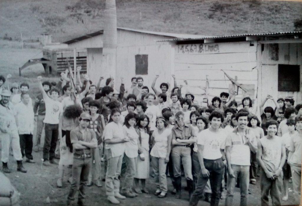 Част от нашата международна бригада за прибиране на кафе в Ел Улар, Матагалпа, 1985 г. Снимка: Къдринка Къдринова