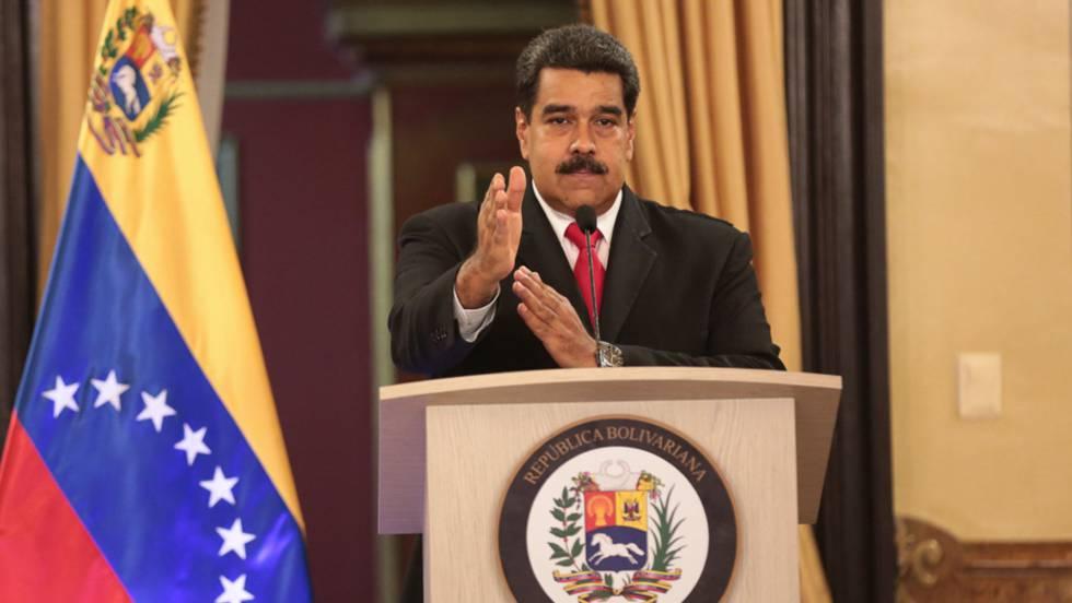 Николас Мадуро по време на обръщението си след атентата. Снимка: EFE