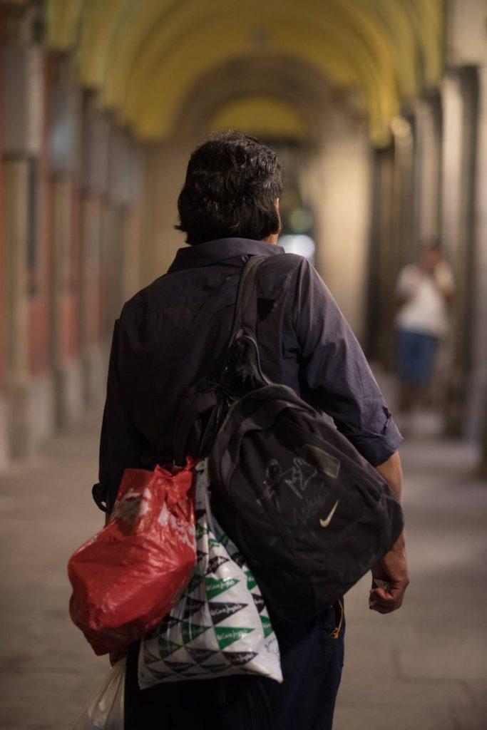 Бездомникът Раул. Снимка: El Pais