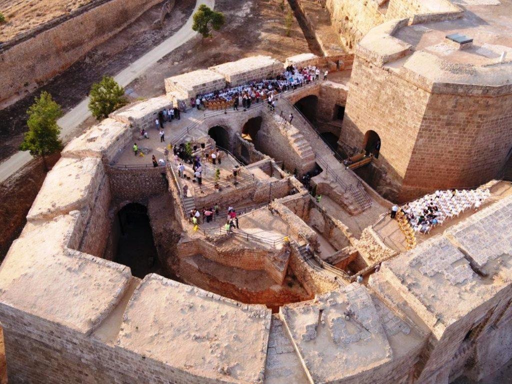 Откриването на реставрирания бастион Равелин на средновековната крепост на Фамагуста през юни тази година. Снимка: ПРООН