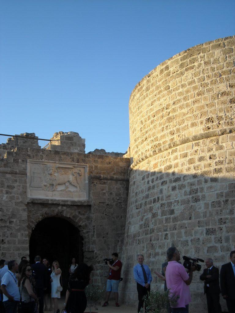 Кулата на Отело в средновековната крепост на Фамагуста бе открита след консервационни дейности през юли 2015 г. Снимка: Бранислава Бобанац