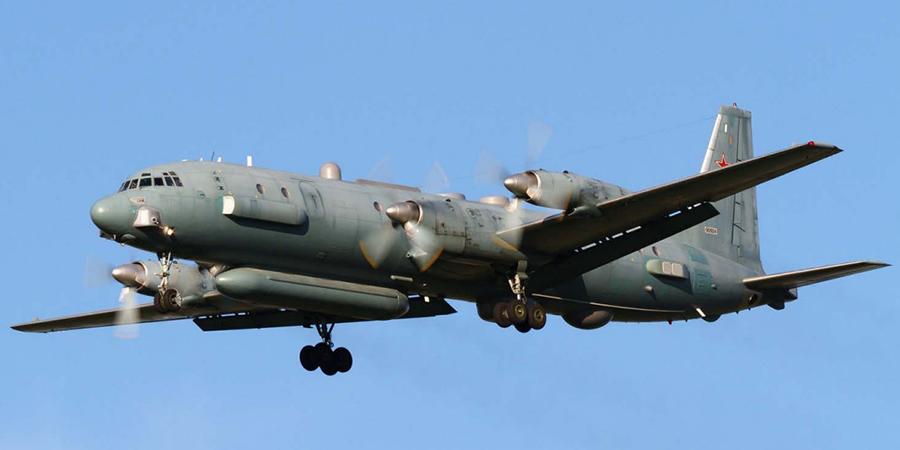 """Такъв Ил-20 е бил свален над Сирия снощи. Снимка: ИА """"Оружие России"""""""