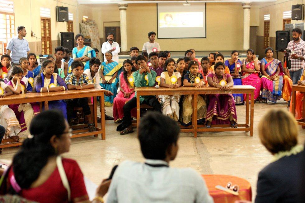 Средно училище за момичета в Райапурам, Индия. Снимка: УНИЦЕФ