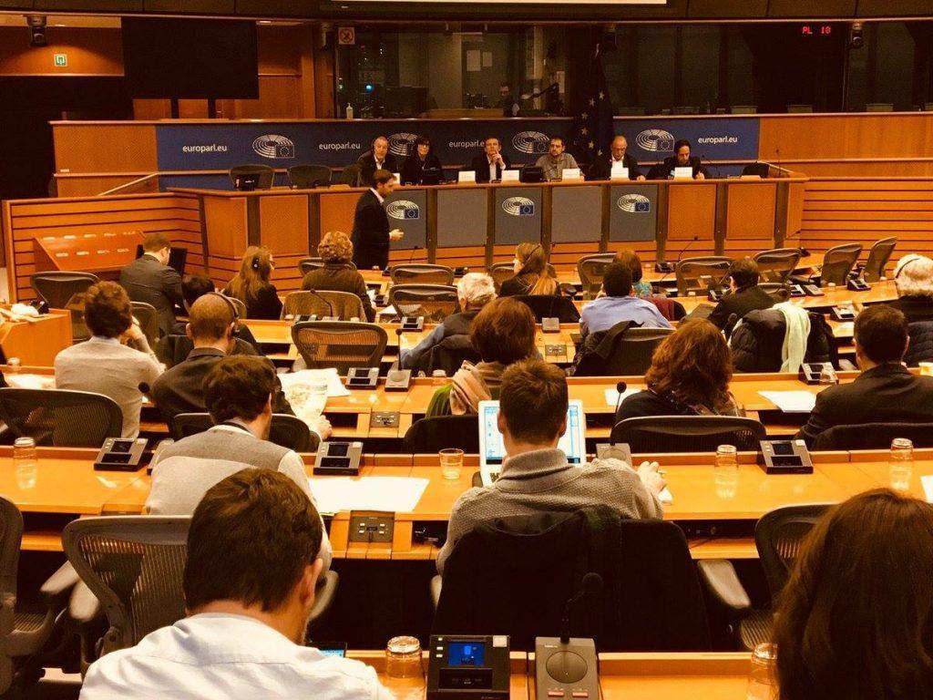 По време на една от дискусиите в рамките на Прогресивния алианс. Снимка: progressivecaucus.eu