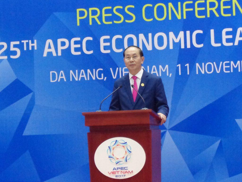 Чан Дай Куанг на форума на АРЕС в Да Нанг през ноември м.г. Снимка: Къдринка Къдринова