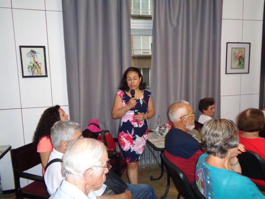 Сандра Облитас от Перу разчувства всички с благодарностите си към България. Снимка: Къдринка Къдринова