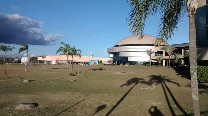 """Изглед от научно-технологичния комплекс в Сао Жозе дос Кампос. В кръглата сграда се намира институтът """"Семаден"""". Снимка: Даниел Методиев"""