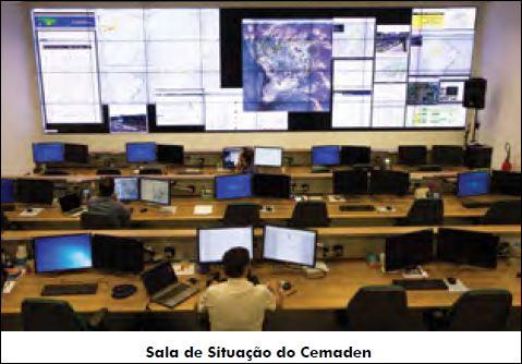 """Командната зала на института """"Семаден"""". Снимка: Cemaden"""
