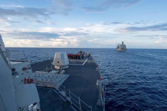 Милитаризацията на Южнокитайско (Източно) море става все по-натрапчива, а съперничествата между Китай и САЩ във водите му–все по-опасни. Снимка: US Navy
