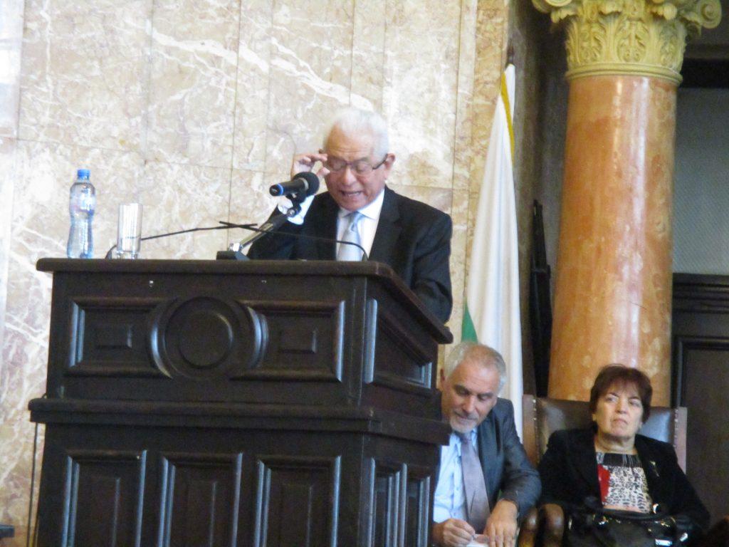Хорхе Валеро на трибуната на конференцията в София. Снимка: Къдринка Къдринова