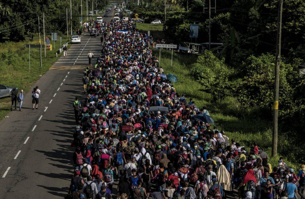 Шествието вече е на мексиканска територия. Снимка: El Pais