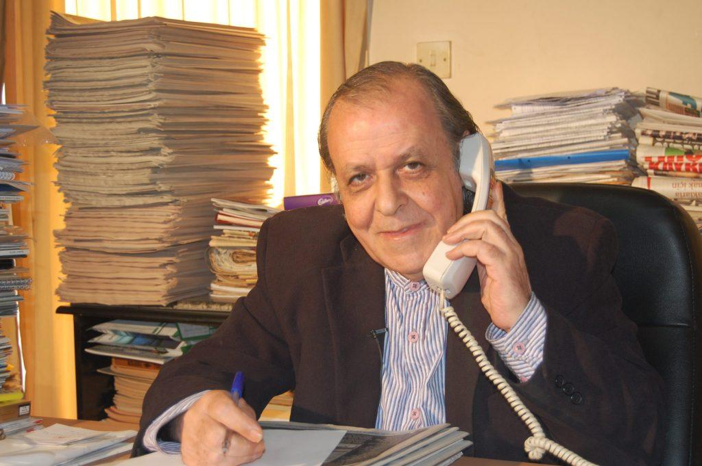"""Шенер Левент – най-""""скандалният"""" журналист в Кипър. Снимка: архив на авторката"""