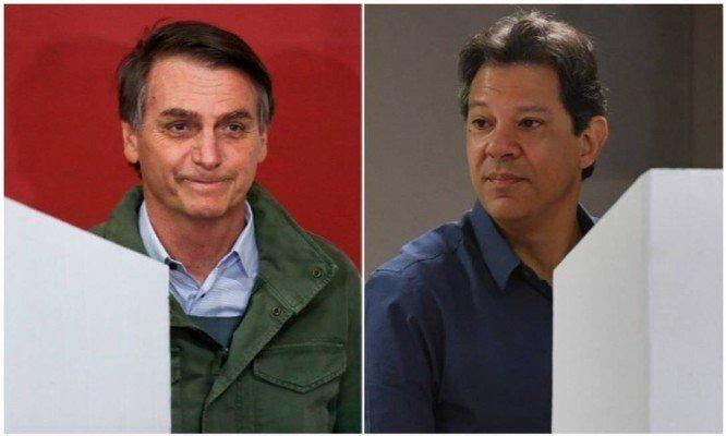 Жаир Болсонаро или Фернандо Хадад? Бразилците вече избраха. Снимка: Folha de Sao Paulo