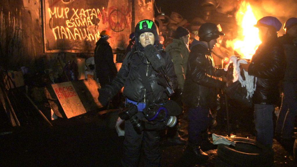 Елена Йончева репортерства от Украйна. Снимка: личен архив на журналистката