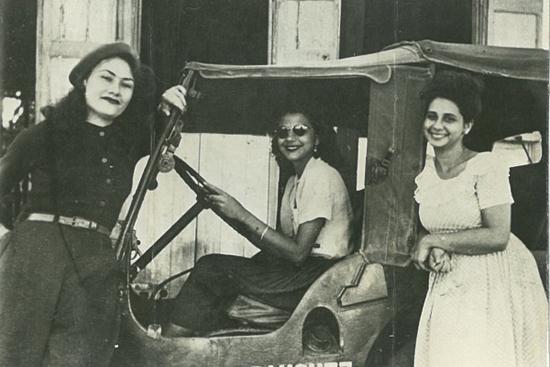 Патриа, Миневра (на волана) и Мария Тереса Мирабал малко преди гибелта им. Снимка: latina,com