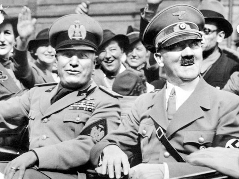 Резултат с изображение за Адолф Хитлер и Бенито Мусолини