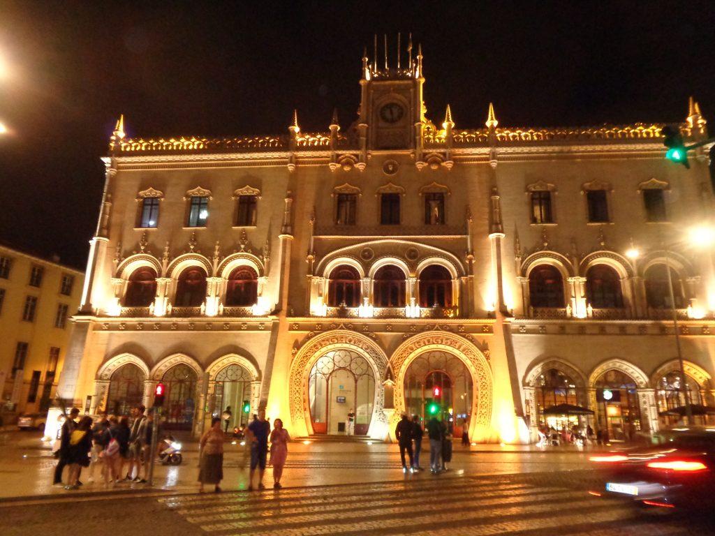 """Гара """"Росио"""", дала име на площада, е красива като дворец. Снимка: Къдринка Къдринова"""