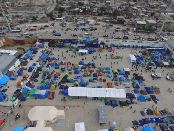 Мигрантският лагер в Тихуана, Мексико. Снимка: El Pais