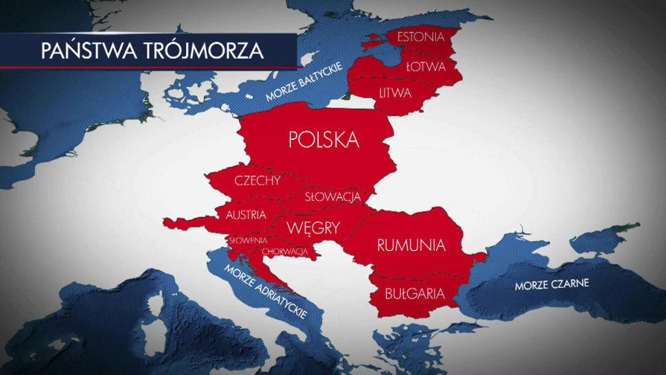 """Инициативата """"Триморие"""" физически разделя Русия от Западна Европа. Снимка TVN24"""