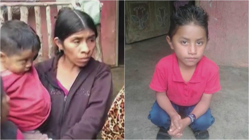 Седемгодишният Фелипе Гомес (вдясно), който почина на 24 декември в Алмагордо, и майка му Каталина с негово братче на ръце в репортажа на Univision