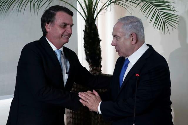 Жаир Болсонаро с Бенямин Нетаняху. Снимка: Haaretz
