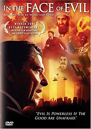 """Корицата на DVD с филма на Банън за Роналд Рейгън """"Пред лицето на злото"""""""