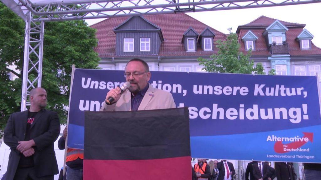 """Франк Магниц на архивен кадър от проява на """"Алтернатива за Германия"""". Снимка: YouTube"""