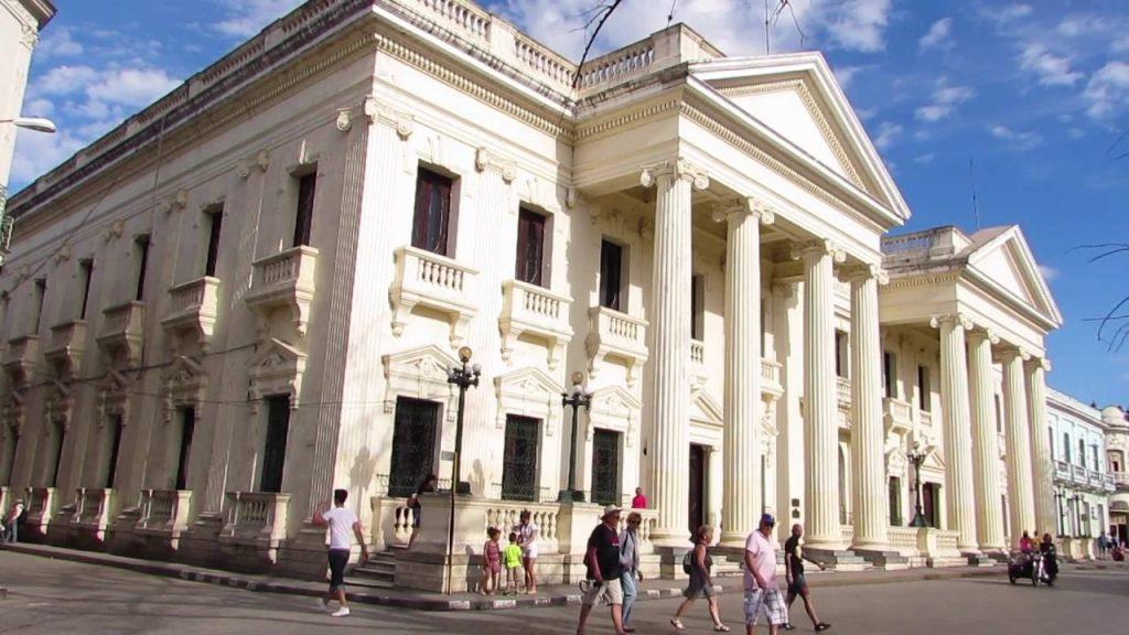 """Бившият Дворец ва провинцията днес е библиотека """"Хосе Марти""""."""