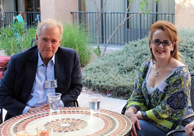 Робърт Мърсър и дъщеря му Ребека. Снимка: Albuquerque Journal
