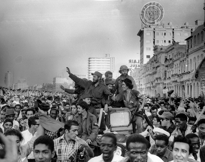 Колоната на свободата начело с Фидел Кастро из улиците на Хавана на 8 явуари 1959 г. Снимка: Radio Rebelde