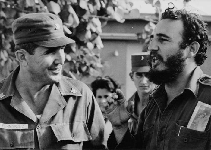 Хосе Рамон (Гайего) Фернандес и Фидел Кастро скоро след победата на революцията през 1959 г. Снимка: Granma