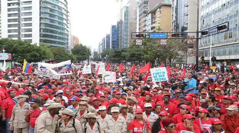 Кадър от шeствието в подкрепа на Мадуро на 23 януари. Снимка: AVN