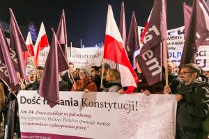 """""""Разем"""" защитава полската конституция, източник: Facebook."""
