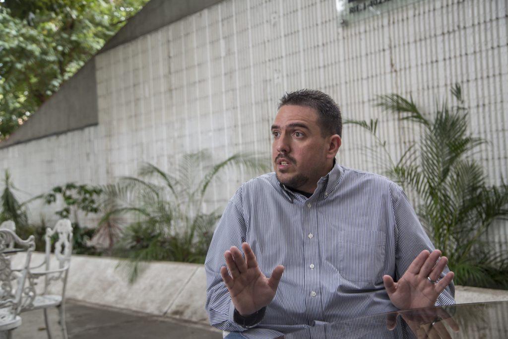 Сталин Гонсалес по време на интервюто си през ноември 2018-та. Снимка: aperturaven