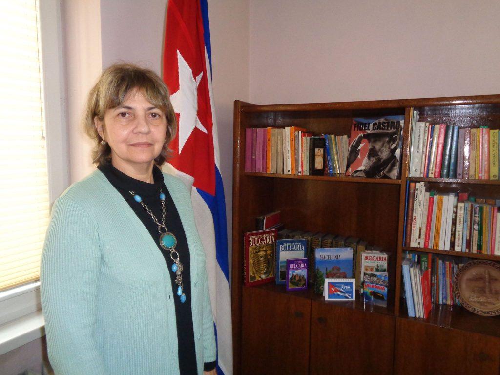 Н. Пр. Каридад Ямира Куето Милиан в кабинета си. Снимка: Къдринка Къдринова