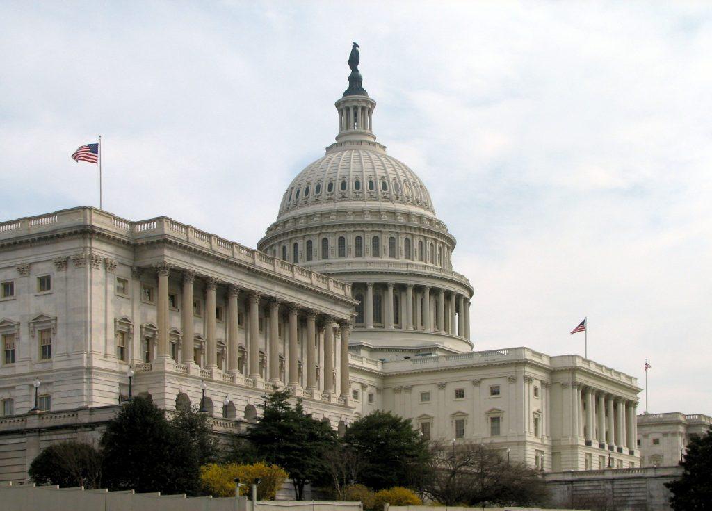 Капитолият, входът към Сената на САЩ. Сничка: Уикипедия