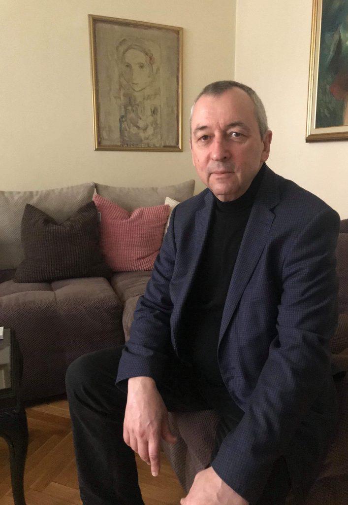 Георги Пирински по време на интервюто. Снимка: Ана Пиринска