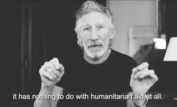 В свое видеообръщение Роджър Уотърс порица инициативата за концерта Venezuela Aid Live и призова за ненамеса във венесуелските вътрешни работи