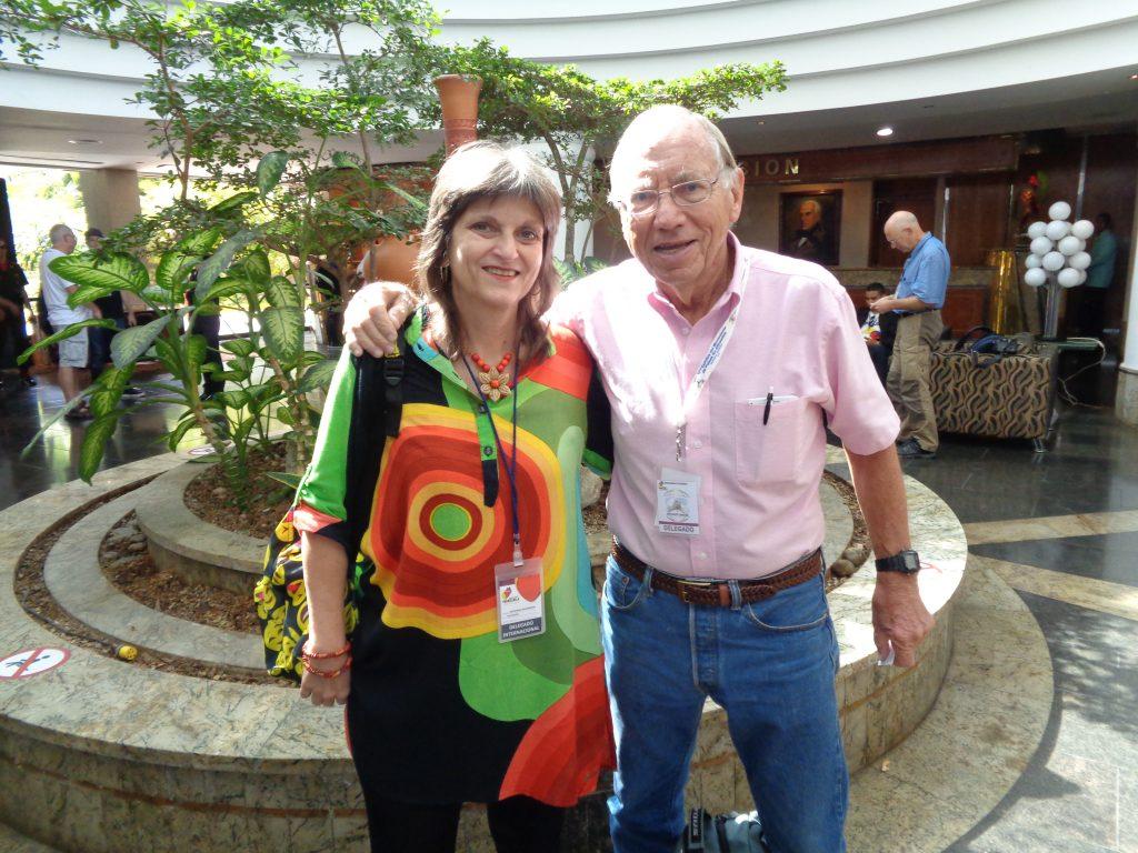 Чарли Харди и авторката в Каракас, 2017 г. Снимка: Виктор Простов