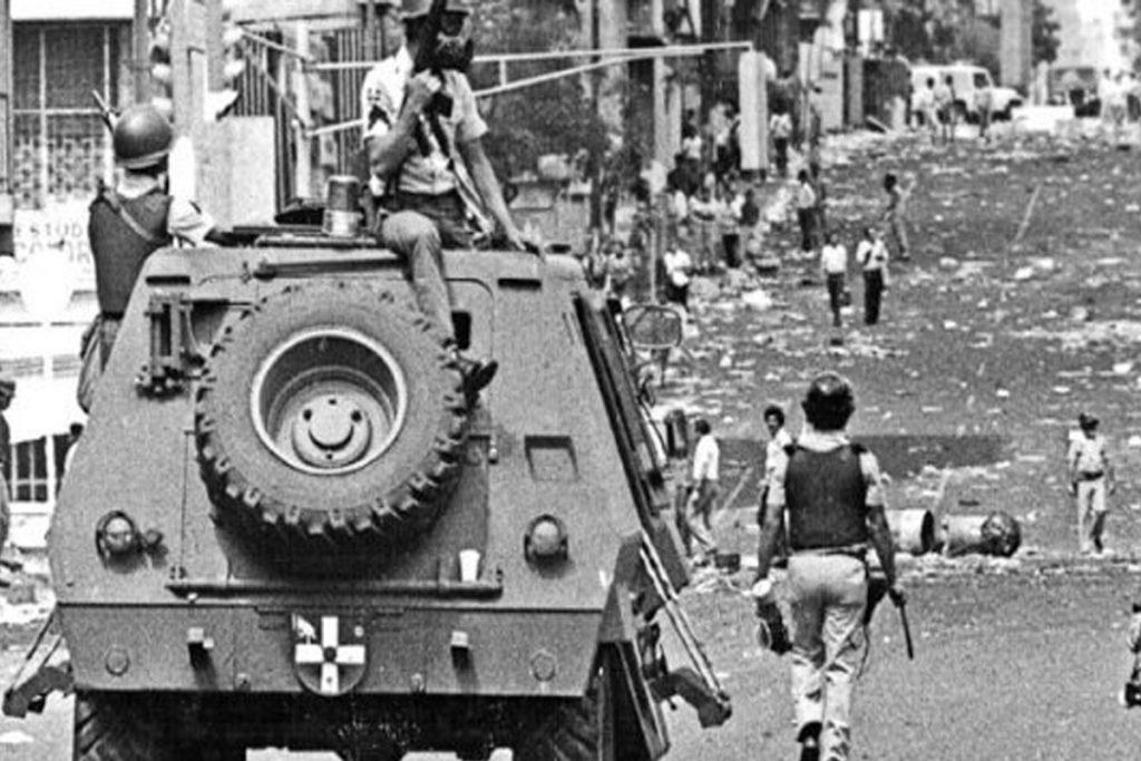 Карлос Андрес Перес хвърля армията срещу народа. Снимка: venezuelanalysis