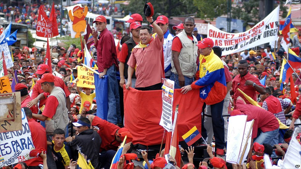 Чавес умееше да екзалтира масите. Снимка: Trabajadores