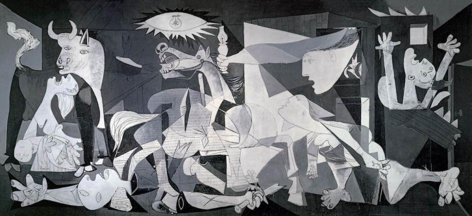 """""""Герника"""" на Пабло Пикасо днес е част от експозицията на музея """"Кралица София"""" в Мадрид. Снимка: wikipedia"""