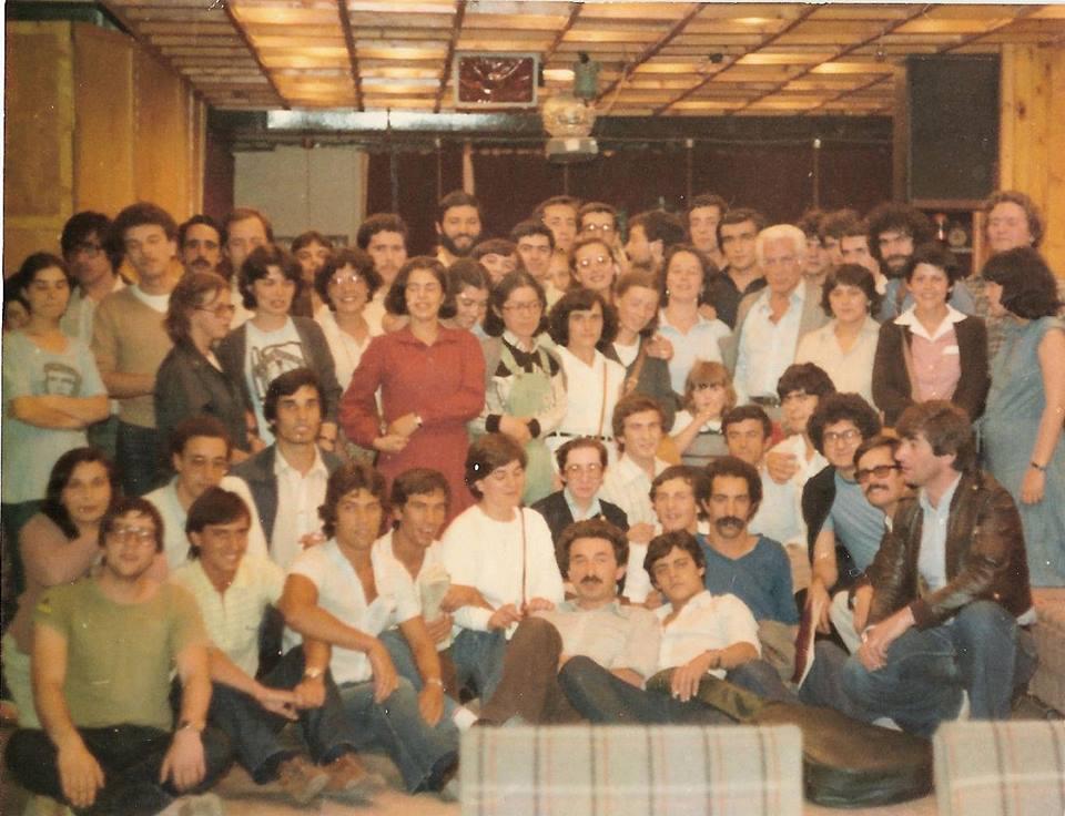 Алваро Кунял (единсвеният беловлас) с португалски студенти в България.