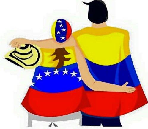 Венецуела и Колумбия си остават роднински страни, през каквито и перипетии да минават официалните им отношения. Илюстрация: Фейсбук